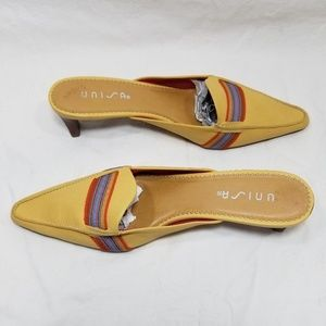 Unisa Shoes - Unisa Yellow Kitten Heels Mules